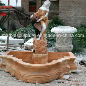 Hand Carved Outdoor Lady Statue Water Marble Fountain (SY-F109) pictures & photos