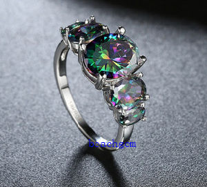 Hot Sell Jewelry-Mystic Cubic Zirconia Brass Rings (R0852) pictures & photos