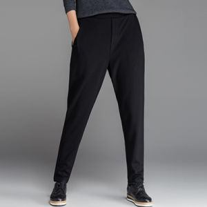 China Garment Manufacturing Fashionable Lady Loose Black Pants pictures & photos