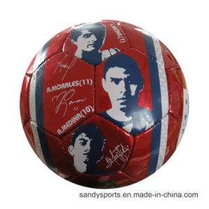 Custom Logo Promotion PVC Leather Machine-Sewn Soccer Ball pictures & photos