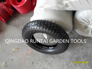 Cross Pattern Cheap Tire and Tube for Wheelbarrow (4.00-8) pictures & photos