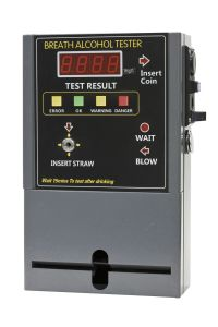 Professional Coin-Operated Breathalyzer in Grey Color, Uses Fuel Cell Technology (AT319)