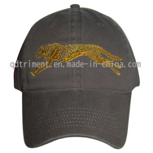 Washed Woven Patched Cotton Twill Sport Baseball Cap (TMB9239) pictures & photos