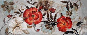 Oil Painting of Decorative Flowers-2 pictures & photos