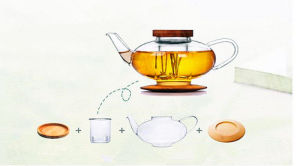 Customized Beautiful Design Glass Tea Pot Water Kettle pictures & photos