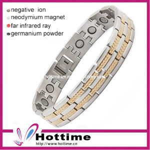 Fashion Mens Titanium Bracelet with Magnetic (CP-JS-TL-084) pictures & photos