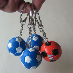 Custom Soft PU Leather Football Keychain pictures & photos