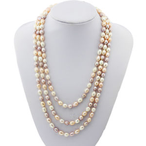 60 Inch Women Long Multicolor DOP Shape Fresh Water Real Cultured Jewelry Freshwater Pearl Necklace