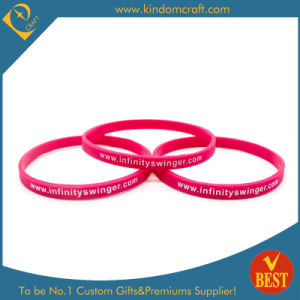 Newest Customized Logo 6mm Width Silicone Wristbands for Promotion pictures & photos