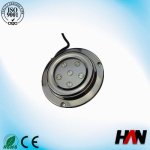 6W High Power IP68 Stainless Steel 12V LED Underwater Boat Light/Light for Swim