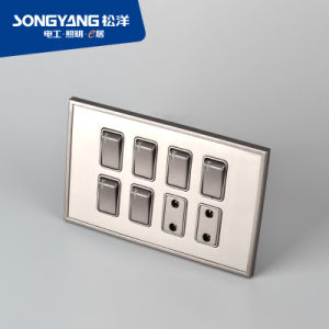 Stainless Steel Series 6gang&2socket Wall Socket pictures & photos