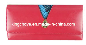 Fashion Pink with Snake Trimming Cosmetic Bag / Fashion Bag (KCW04) pictures & photos