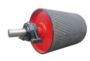 Rubber Lagging with Diamond Shaped Groove Conveyor Pulley pictures & photos
