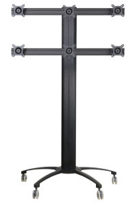 "Public TV Floor Stand 6-Monitor 10-24"" (AVD 006A) pictures & photos"