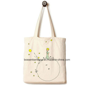 OEM Produce Customized Logo Printed Duty Natural Canvas Tote Beach Shopper Bag pictures & photos