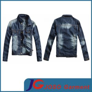 Factory Wholesale Fashion Men′s Denim Jacket (JC7032) pictures & photos