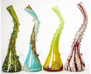 Double Matrix Perc Showerhead Colorful Glass Smoking Water Pipe pictures & photos