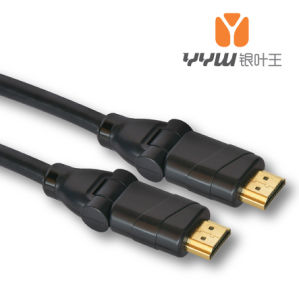 Swivel HDMI Cable 180 Degree 1.4V/2.0V 1080P 3D 4kx2k (YHD2903BP)
