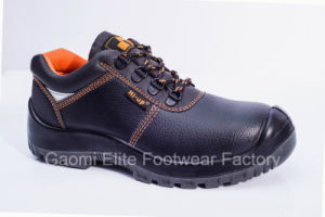 Low Cut Black Embossed PU Leather Safety Shoe Rocky-O1