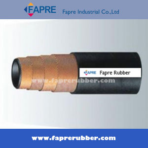 Four Wire Rubber Hydraulic Hose (DIN 4SP) pictures & photos