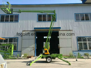 Small Telescopic Trailer Articulating Boom Lift pictures & photos