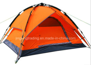 Waterproof 3-4 Persons Double-Skin Automatic Camp Tent (JX-CT031-1) pictures & photos