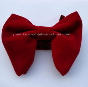 High Quality Velvet Big Size Show Mens Bow Tie Multi Colors pictures & photos