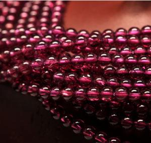 Factory Direct Sale Gemstone Loose Strand 4mm Brazil Natural Garnet Gemstone pictures & photos