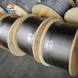 on Sale Wooden Reel Stainless Steel 304 or 316 Wire Rope pictures & photos