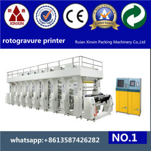 6 Color Rotogravure Printing Machine with Inverter Control Adjust Machine Speed pictures & photos