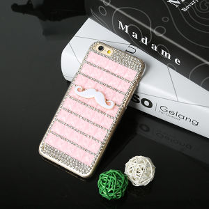 2015 New Arrival Rhinestone PC Mobile Phone Case for iPhone
