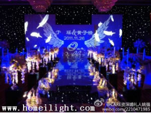 4m * 6m White LED Star Cloth for Wedding Stage Evnets Backdrop Show pictures & photos