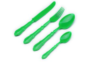 Green Color Disposable Cutlery Sets pictures & photos
