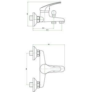 Economic Bathroom Faucet Shower Mixer Shower Faucet (GL8803A23) pictures & photos