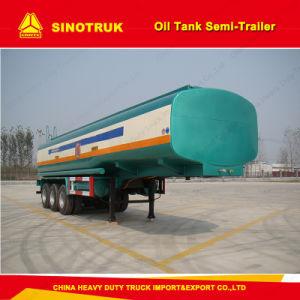 Tri-Axle Oil Tanker Trailer / 4000 Liters Fuel Tank Semi-Trailer pictures & photos