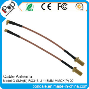 SMA K Rg316 U 115mm MMCX Cable Antenna for Cable Radio Antenna pictures & photos