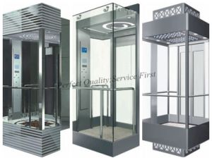 1.75m/S Sightseeing Elevator Passenger Lift with Small Machine Room pictures & photos