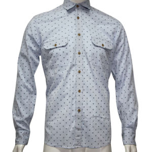 Man Dobby Print Fashion Shirt HD0018