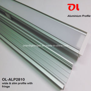 Wide Slim LED Aluminum Profile with Fringe (ALP2810) pictures & photos