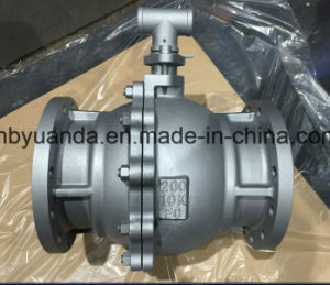 JIS 10K Cast Iron Floating Full Bore Ball Valve Flange end pictures & photos