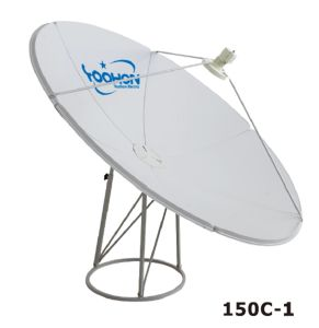150cm Prime Focus Flat Panel Satellite Antenna for TV pictures & photos