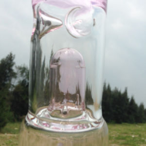 Autunm Pink New Design Glass Water Pipe for Hookah Smoking (ES-GB-250) pictures & photos