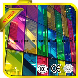 Cheap 4-19mm Colored Tempered Reflective Glass Price with CE / ISO9001 / CCC pictures & photos