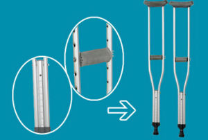 Aluminum Alloy Medical Crutch