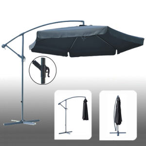 Retractable Durable Alu. Pole Garden Umbrella pictures & photos