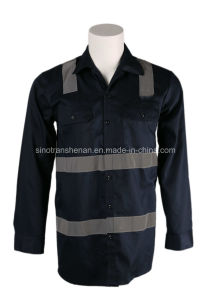 Hi Vis Fr Work Shirt with Reflective Stripe Fr 100% Cotton pictures & photos