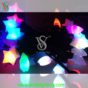 PVC Cable Christmas String Light with Star pictures & photos
