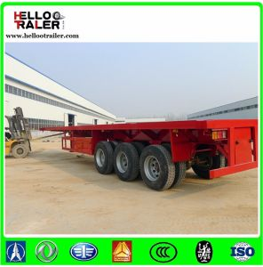 Tri- Axle 20FT Container Semi Trailer Flatbed Trailers pictures & photos