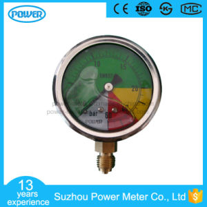 63mm Half Stainless Steel Bottom Thread Type Non-Isometric Scale Liquid Filled Pressure Gauge pictures & photos