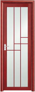 Asia Popular Red Aluminum Bathroom Door (EA-9695) pictures & photos